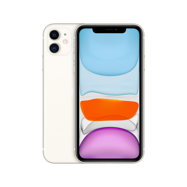 Смартфон Apple iPhone 11 128GB, белый, Slimbox, (MHDJ3RU/A)
