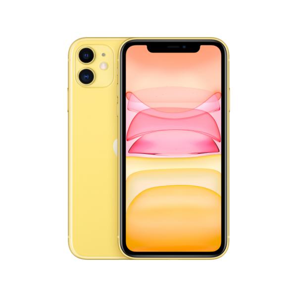 Смартфон Apple iPhone 11 128GB, желтый, Slimbox, (MHDL3RU/A)