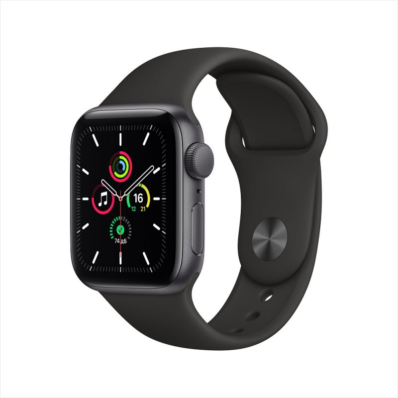 Умные часы Apple Watch SE GPS Aluminum Case with Sport Band - 40mm, черный
