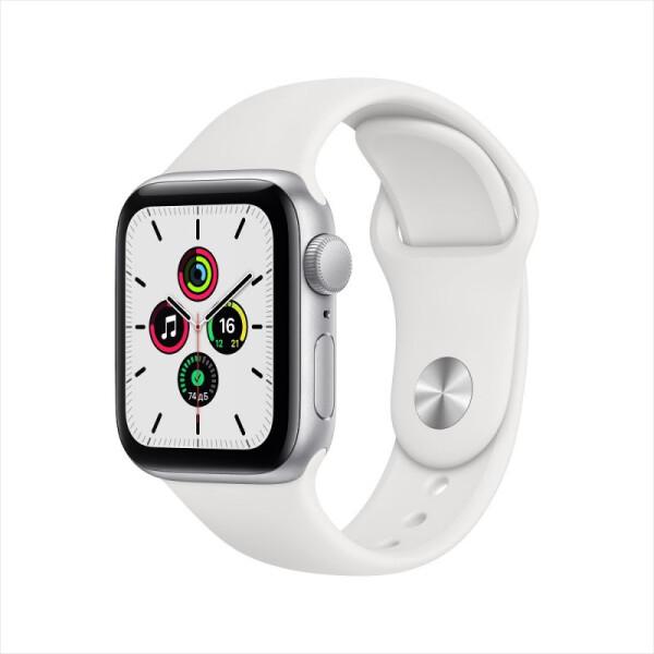 Умные часы Apple Watch SE GPS 40мм Aluminum Case with Sport Band, серебристый/белый