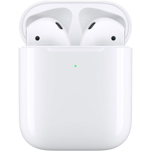 Беспроводные наушники  Apple AirPods 2 с беспроводным зарядным футляром (MRXJ2RU/A), белый